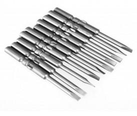 10PCS 60MM S2 alloy steel electromagnetic flat head screwdriver